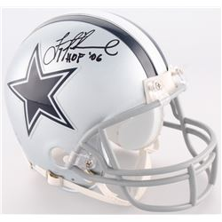 "Troy Aikman Signed Cowboys Mini-Helmet Inscribed ""HOF '06"" (Aikman Hologram)"