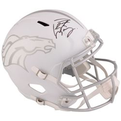 Peyton Manning Signed Broncos Full-Size White Ice Speed Helmet (Fanatics)