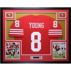 "Steve Young Signed 49ers 35"" x 43 Custom Framed Jersey Display (JSA COA)"