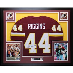 "John Riggins Signed Redskins 35x43 Custom Framed Jersey Inscribed ""HOF 92"" (PSA COA)"