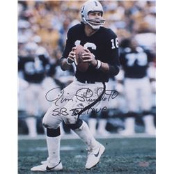 "Jim Plunkett Signed Raiders 16x20 Photo Inscribed ""S.B. XV MVP"" (Radtke COA)"