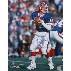 Jim Kelly Signed Bills 16x20 Photo (MAB COA)
