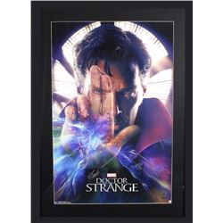 "Stan Lee Signed ""Doctor Strange"" 29x42 Custom Framed Poster Display (Lee Hologram)"