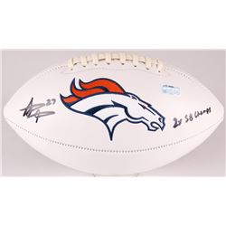 "Steve Atwater Signed Broncos Logo Football Inscribed ""2x SB Champs"" (Radtke COA)"
