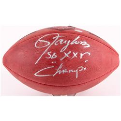 "Lawrence Taylor Signed Official NFL Game Ball Inscribed ""SB XXV Champs"" (Radtke COA)"