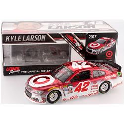 Kyle Larson Signed NASCAR #42 Color Chrome Target 2017 SS 1:24 Limited Edition Premium Action Die Ca