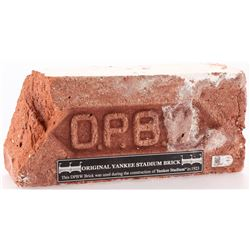 Authentic Brick from The Original Construction of the Old Yankees Stadium (Steiner COA  MLB Hologram
