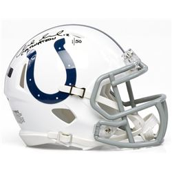 """Andrew Luck Signed Colts Mini Speed Helmet Inscribed """"Colts Nation"""" (Panini COA)"""