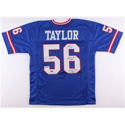 """Lawrence Taylor Signed Giants LE Jersey Inscribed """"HOF 99"""", """"Giant For Life""""  """"Last To Wear 56"""" (Rad"""