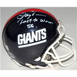 "Lawrence Taylor LE Signed Giants Throwback Mini-Helmet Inscribed ""Last to Wear 56"" (Radtke COA)"