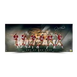 "Joe Montana Signed 49ers ""Art of the Pass"" 15x36 Limited Edition Collage Photo (UDA COA)"
