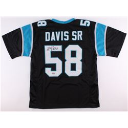 Thomas Davis Sr. Signed Panthers Jersey (Radtke COA)