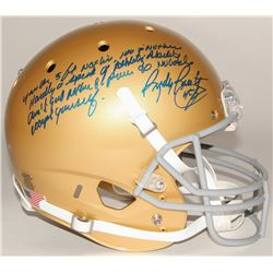"Rudy Ruettiger Signed Full-Size Notre Dame Fighting Irish Helmet with ""Five Foot Nothing"" Extensive"