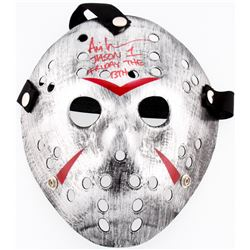 "Ari Lehman Signed Jason ""Friday the 13th"" Custom Silver Hockey Mask Inscribed ""Jason 1""  ""Friday The"