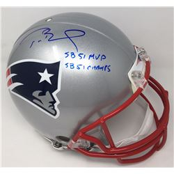 "Tom Brady Signed Limited Edition Patriots Full-Size Authentic On-Field Helmet ""SB 51 MVP""  ""SB 51 Ch"