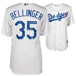 "Cody Bellinger Signed Dodgers Jersey Inscribed ""2017 NL ROY"" (Fanatics)"