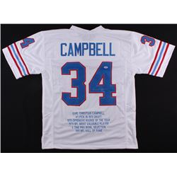 Earl Campbell Signed Oilers Career Highlight Stat Jersey (PSA COA)