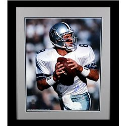 Troy Aikman Signed Cowbyos 23x27 Custom Framed Photo Display (Aikman Hologram)