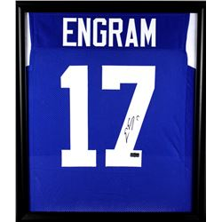 Evan Engram Signed Ole Miss Rebels 23x27 Custom Framed Jersey Display (Radtke COA)