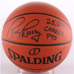 "Rick Barry Signed Game Ball Series Basketball Inscribed ""25279 Career PTs"" (Schwartz COA)"