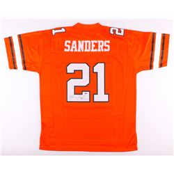 Barry Sanders Signed Oklahoma State Cowboys Jersey (Schwartz COA)