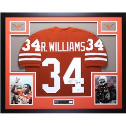 "Ricky Williams Signed Texas Longhorns 35x43 Custom Framed Jersey Inscribed ""HT 98"" (PSA COA)"