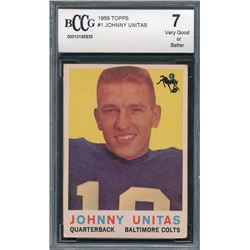 1960 Topps #1 Johnny Unitas (BCCG 7)