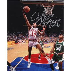 "Dennis Rodman Signed Pistons 16x20 Photo Inscribed ""Bad Boys"" (Schwartz COA)"