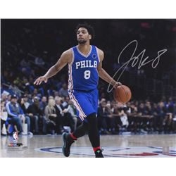 Jahlil Okafor Signed 76ers 16x20 Photo (Schwartz COA)