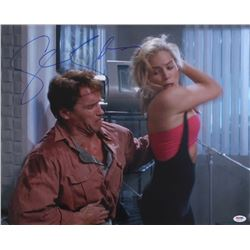 "Sharon Stone Signed ""Total Recall"" 16x20 Photo (PSA COA)"