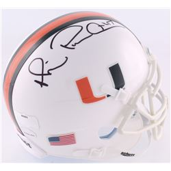 "Michael Irvin Signed Miami Hurricanes Mini-Helmet Inscribed ""Playmaker"" (Radtke COA  Irvin Hologram)"