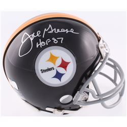 "Joe Greene Signed Steelers Throwback Mini-Helmet Inscribed ""HOF 87"" (Radtke COA)"