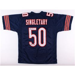 Mike Singletary Signed Bears Jersey Inscribed  Monsters of the Midway  (Schwartz COA)