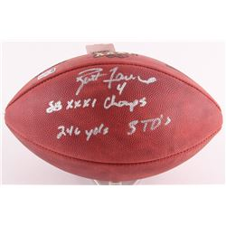 "Brett Favre Signed Super Bowl XXXI Official NFL Game Football Inscribed ""SB XXIX Champs""  ""246 YDS 3"