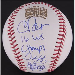 "Chris Bosio, John Mallee  Dave Martinez Signed OML Baseball Inscribed ""16 WS Champs"" (Schwartz COA)"
