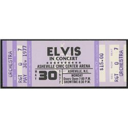 Elvis Presley Authentic Ticket Stub from May 30, 1977