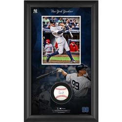 Aaron Judge Signed 15.5x25.25x2 Custom Framed Baseball Shadowbox Display (MLB  Fanatics)