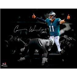 "Carson Wentz Signed Eagles 11x14 Photo Inscribed ""AO1"" (Fanatics)"