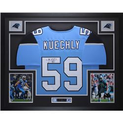 "Luke Kuechly Signed Panthers 35"" x 43"" Custom Framed Jersey (JSA COA)"