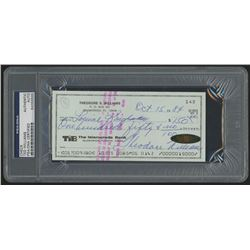 Ted Williams Signed 1984 Personal Bank Check (PSA Encapsulated)