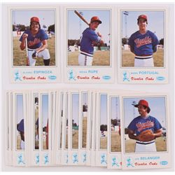 1983 Visalia Oaks Fritsch Complete Set of (25) Baseball Cards with Kirby Puckett RC, Alvaro Espinoza