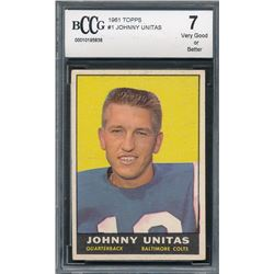 1961 Topps #1 Johnny Unitas (BCCG 7)
