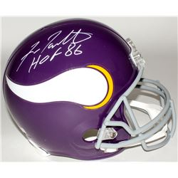 "Fran Tarkenton Signed Vikings Throwback Full-Size Helmet Inscribed ""HOF 86"" (Radtke COA)"