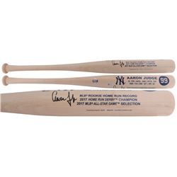 Aaron Judge Signed Yankees Custom Engraved Rookie Stat Baseball Bat (Fanatics)