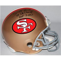 "Jerry Rice Signed LE 49ers Full-Size Authentic Pro-Line Helmet Inscribed ""3x SB Champs,""  ""HOF 2010"""
