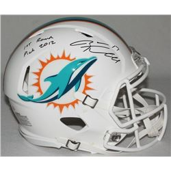 "Ryan Tannehill Signed LE Dolphins Full-Size Authentic On-Field Speed Helmet Inscribed ""1st Round Pic"