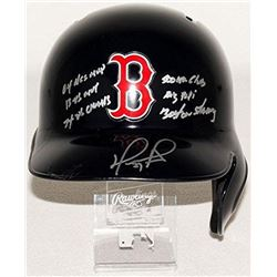 David Ortiz Signed Red Sox Full-Size Batting Helmet With (6) Inscriptions (MLB  Fanatics Hologram)