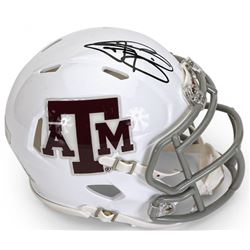 Johnny Manziel Signed Texas AM White Aggies Mini Speed Helmet (Panini COA)