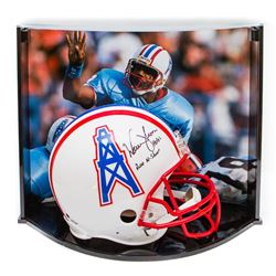 "Warren Moon Signed LE Oilers Full-Size Authentic Pro-Line Helmet Inscribed ""HOF 06""  ""Run-N-Shoot"" W"