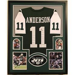 "Robby Anderson Signed Jets 34"" x 42"" Custom Framed Jersey Display (JSA COA)"